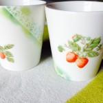 いちご柄のマグカップ